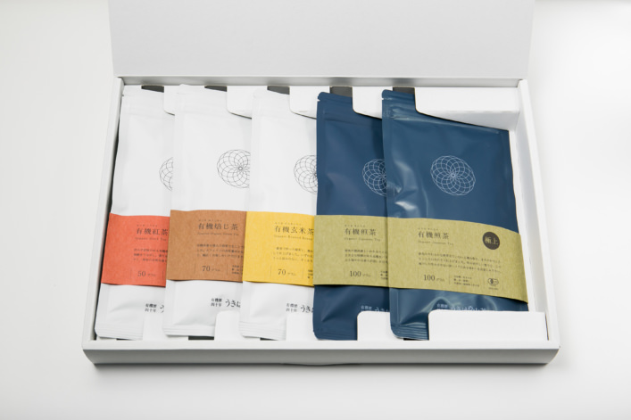 うきはの山茶 5本入 平箱 G-003 商品イメージ1