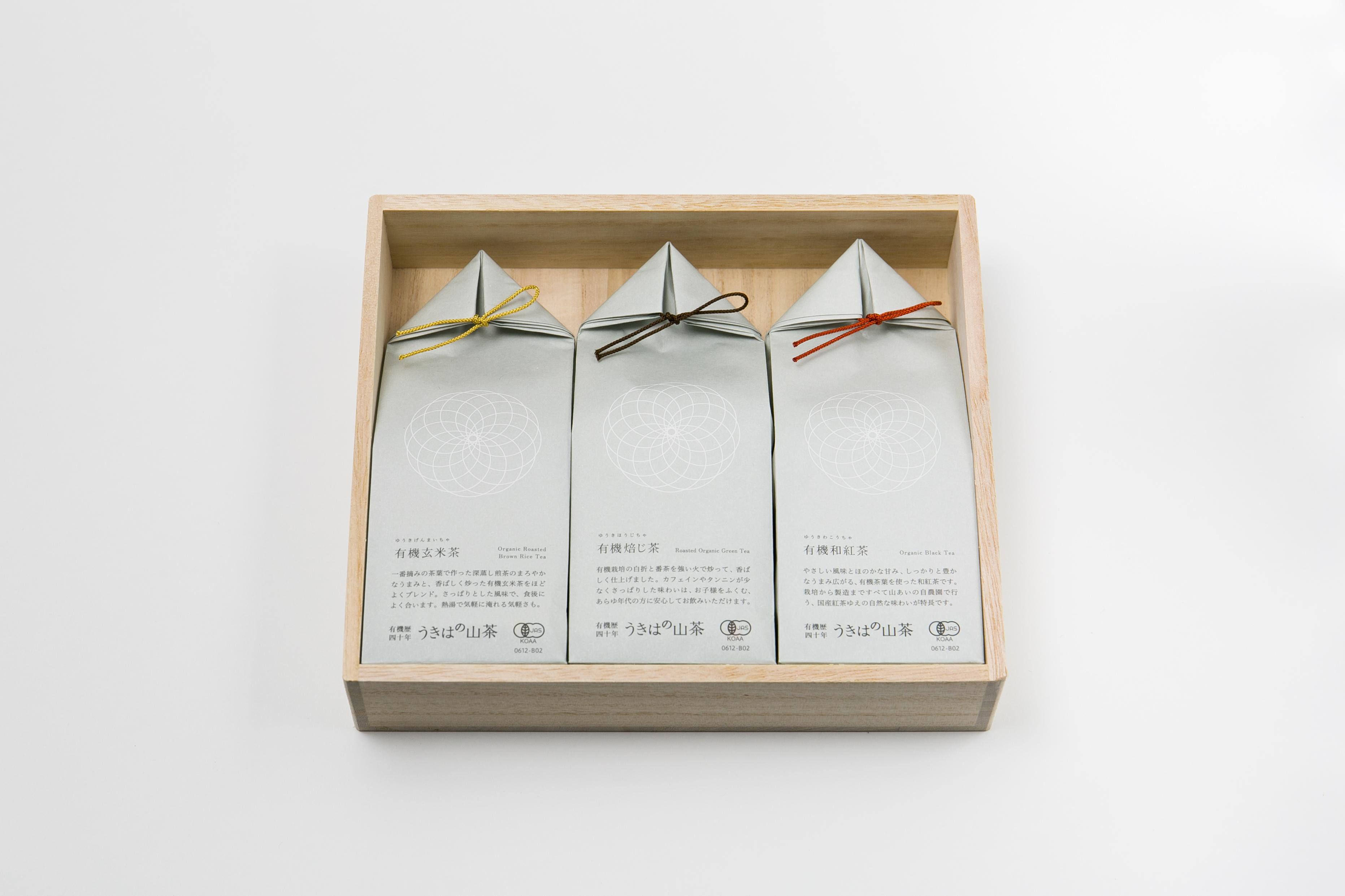 うきはの山茶 3本入 桐箱 GFT3-3 商品イメージ1
