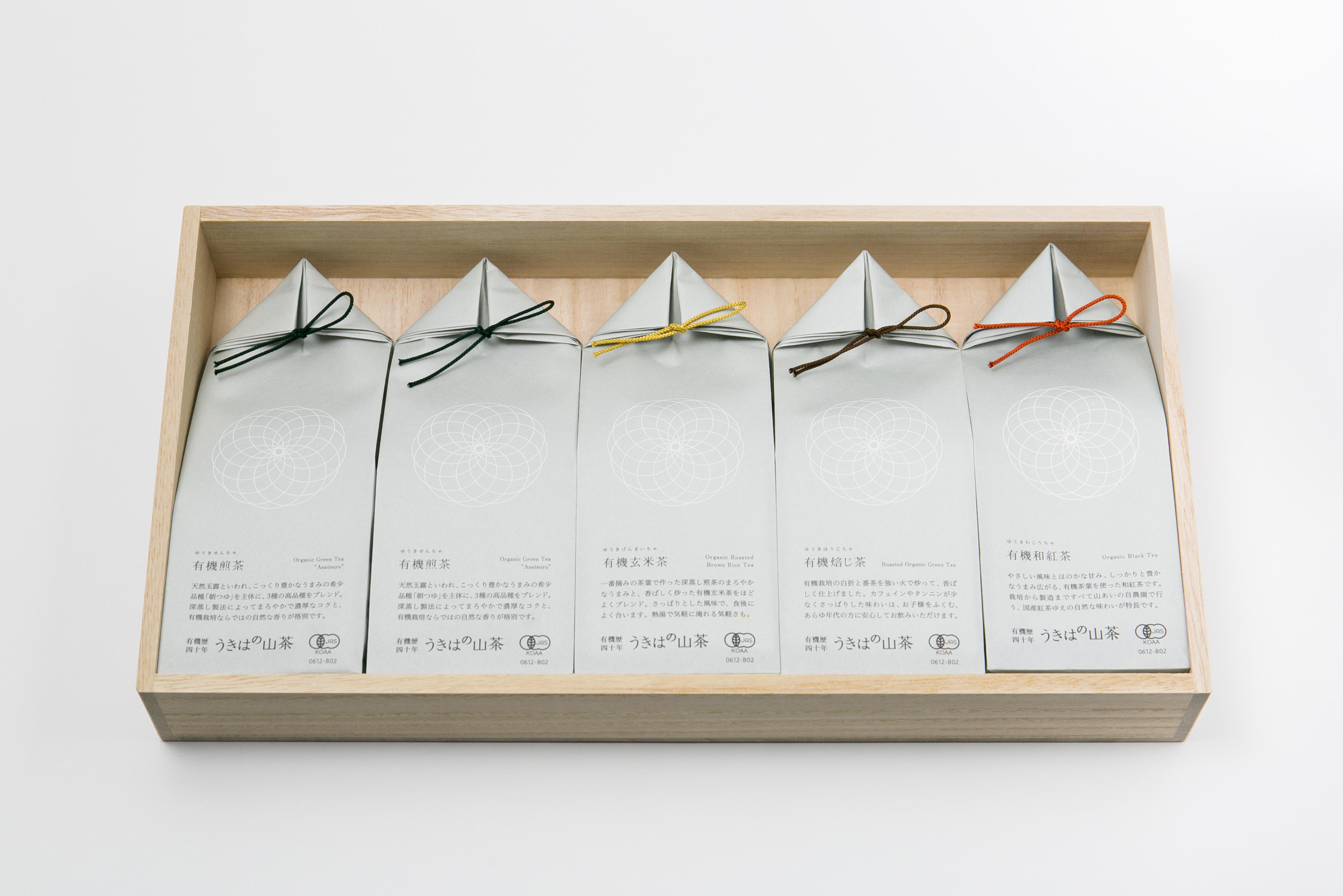 うきはの山茶 5本入 桐箱 GFT5-1 商品イメージ1