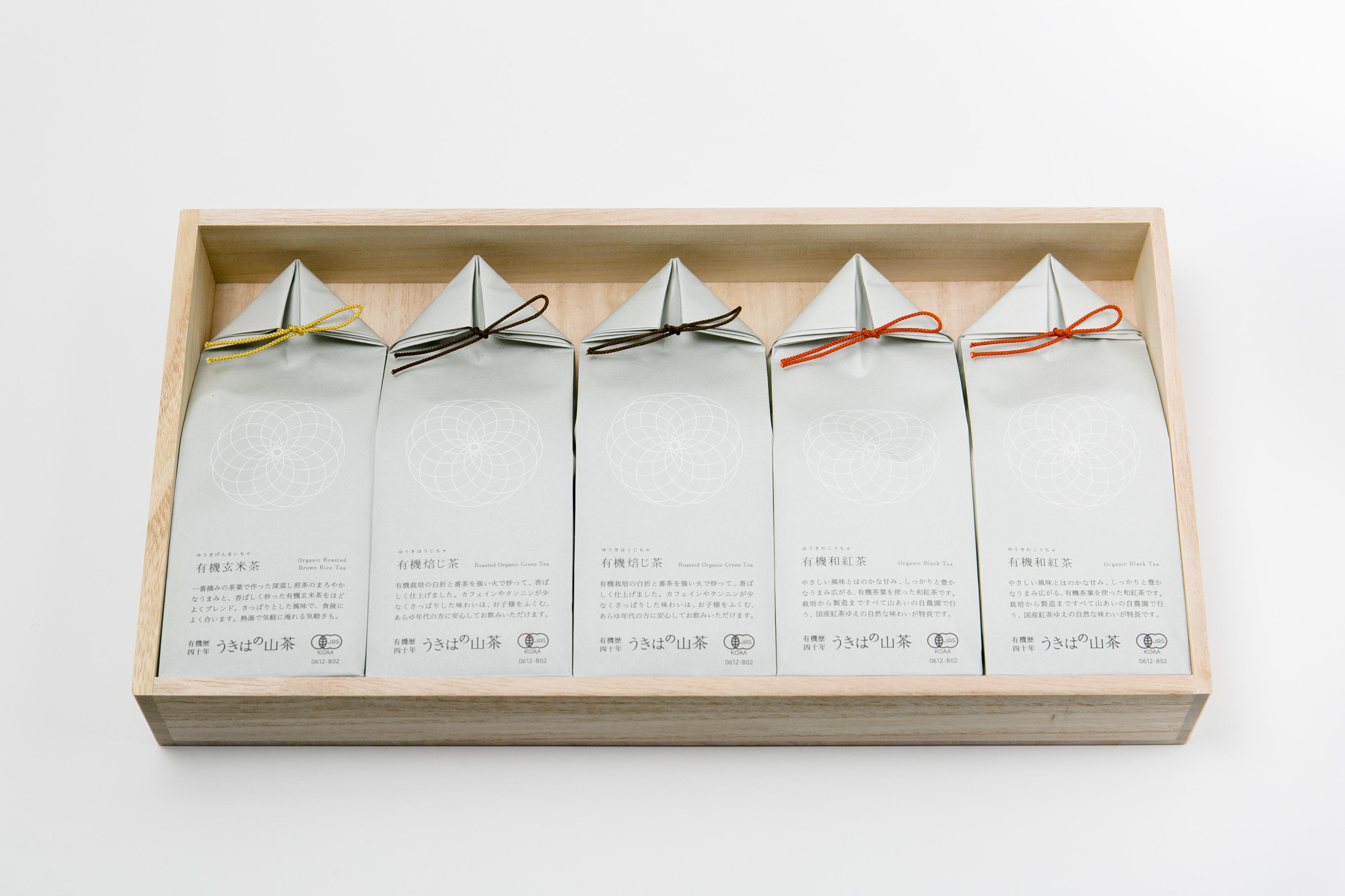 うきはの山茶 5本入 桐箱 GFT5-3 商品イメージ1