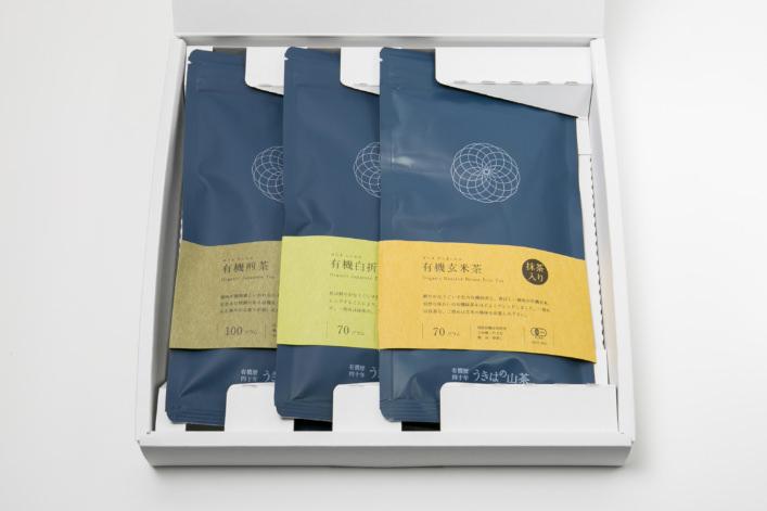 うきはの山茶 3本入 平箱 S-004 商品イメージ1