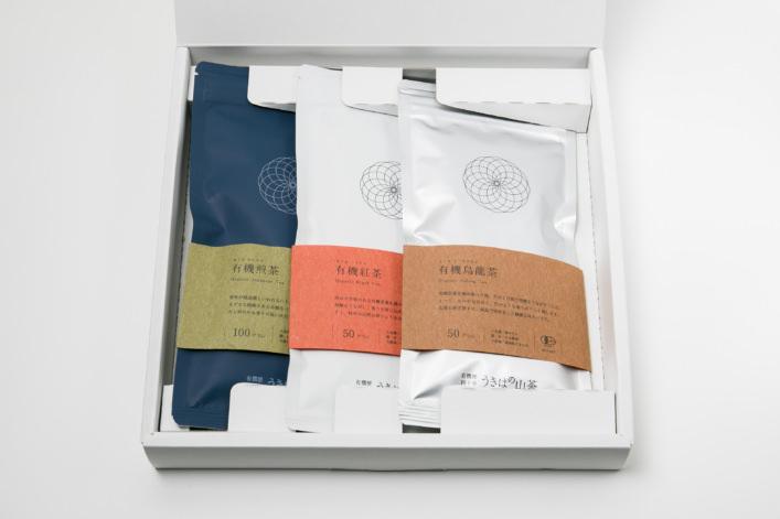 うきはの山茶 3本入 平箱 S-006 商品イメージ1