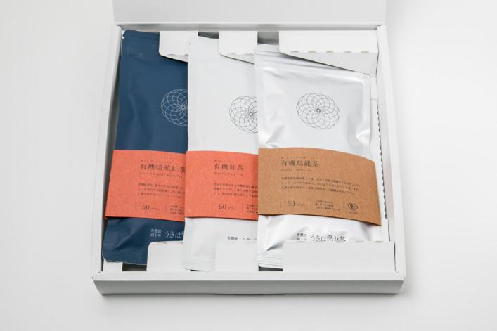 うきはの山茶 3本入 平箱 S-008 商品イメージ1