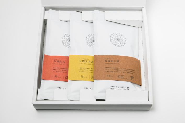 うきはの山茶 3本入 平箱 S-010 商品イメージ1