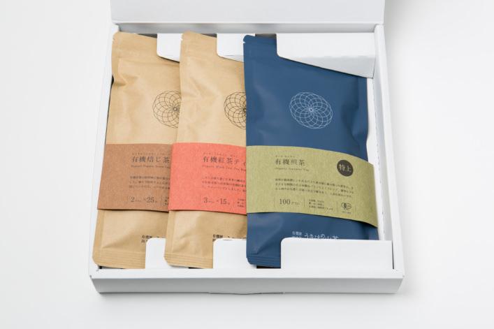 うきはの山茶 3本入 平箱 S-007 商品イメージ1